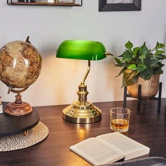 Lampada ministeriale Ottone, Verde, Oro, 1-Luce