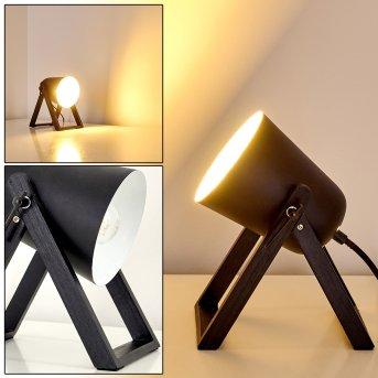 Novilly Lampada da Tavolo Nero, 1-Luce