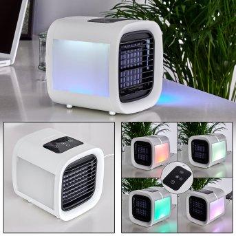 Chania Ventilatore LED Nero, Bianco, 1-Luce, Cambia colore
