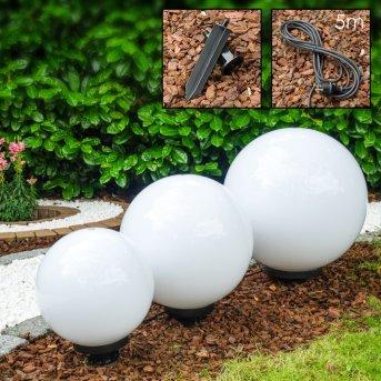 Miau Set di lampade a sfera Bianco, 3-Luci