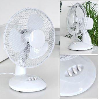 Sopot Ventilatore Cromo, Bianco