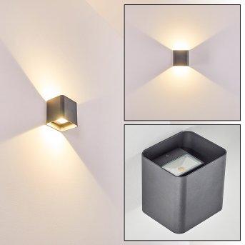 Vikom Applique da esterno LED Antracite, 2-Luci