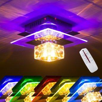 Christy Applique Cromo, Trasparente, chiaro, 1-Luce, Cambia colore