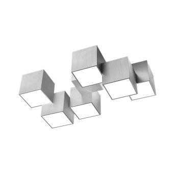 Grossmann ROCKS Plafoniera LED Alluminio, 6-Luci