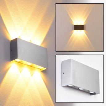 B-Leuchten Lente Applique LED Alluminio, 6-Luci