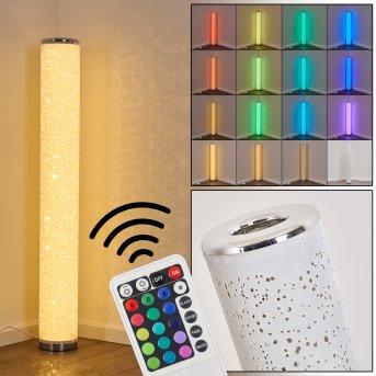 Tumba Lampada da terra LED Bianco, 1-Luce, Telecomando, Cambia colore