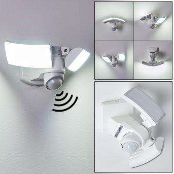 Foroyar Applique da esterno LED Bianco, 2-Luci, Sensori di movimento
