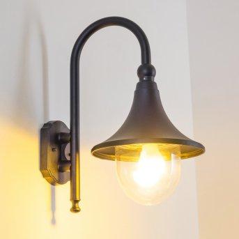 Elgin Applique per esterno Nero, 1-Luce
