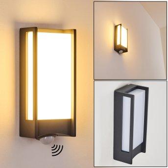 Applique da esterno Skove LED Antracite, 1-Luce, Sensori di movimento