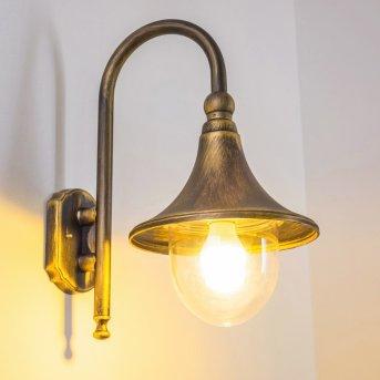 Elgin Applique per esterno Nero-Oro, 1-Luce