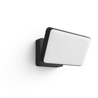 Philips Hue White Welcome Proiettore LED Nero, 1-Luce, Cambia colore