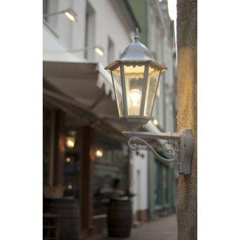 Lutec BRISTOL Applique per esterno Bianco, 1-Luce, Sensori di movimento