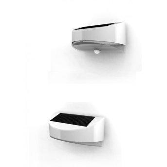 Lutec BREAD Applique per esterno LED Argento, 1-Luce, Sensori di movimento
