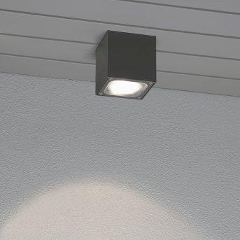 Konstsmide Cesena Plafoniera LED Grigio, Antracite, 1-Luce