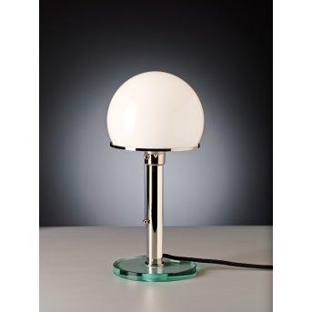 Tecnolumen Wagenfeld 25 Lampada da tavolo Nichel opaco, Trasparente, chiaro, 1-Luce