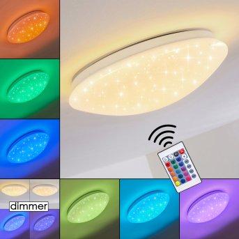 Norton Star Plafoniera LED Bianco, 1-Luce, Telecomando, Cambia colore