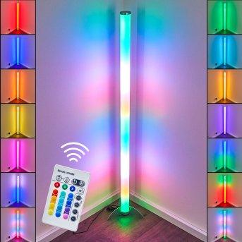Globo ROCKY Lampada da terra LED Argento, 1-Luce, Telecomando, Cambia colore