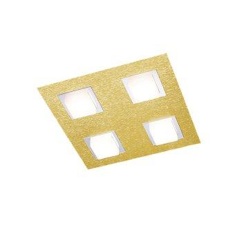 Grossmann BASIC Plafoniera LED Ottone, 4-Luci