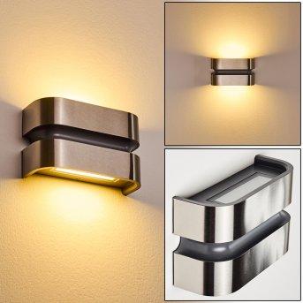 Applique da esterno Kolding LED Nero, Acciaio inox, 1-Luce