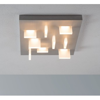 Escale Sharp Plafoniera LED Nichel opaco, 9-Luci