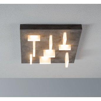 Escale Sharp Plafoniera LED Grigio, 9-Luci