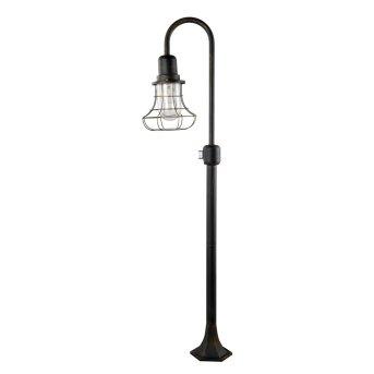 Lutec BIRD Lampada da terra Marrone, Oro, Marrone, Oro, 1-Luce, Sensori di movimento