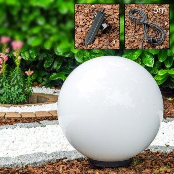 Miau Lampada a sfera Bianco, 1-Luce