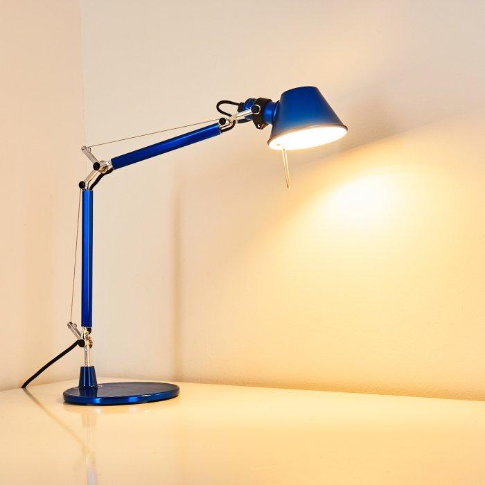 Artemide Tolomeo Micro Lampada Da Tavolo Blu A011850 Lampe Shop Ch