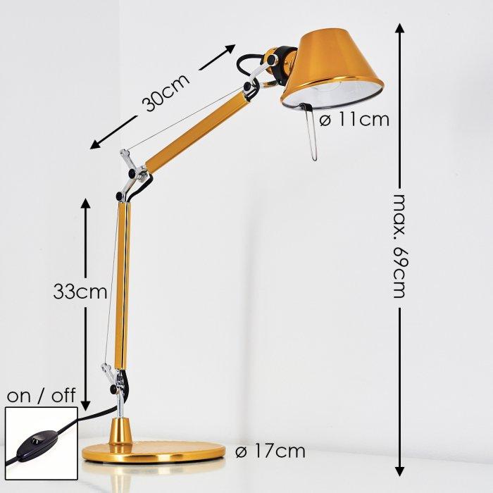 Artemide Tolomeo Micro Lampada Da Tavolo Giallo 0011860a Lampe Shop Ch