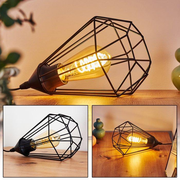 Cenova Lampada Da Tavolo Nero H3368633 Lampe Shop Ch