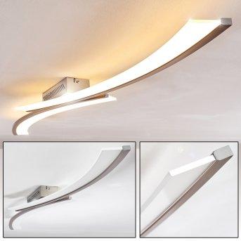 Orgia Plafoniera LED Nichel opaco, 1-Luce