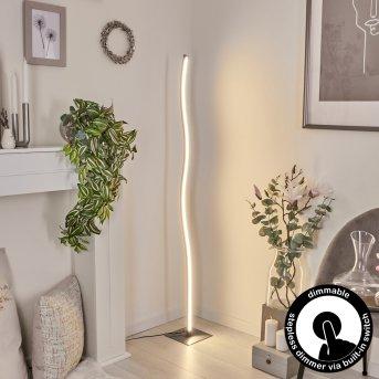 Soyo Lampada da terra LED Nichel opaco, 1-Luce