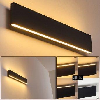 Obion Applique LED Nero, 2-Luci